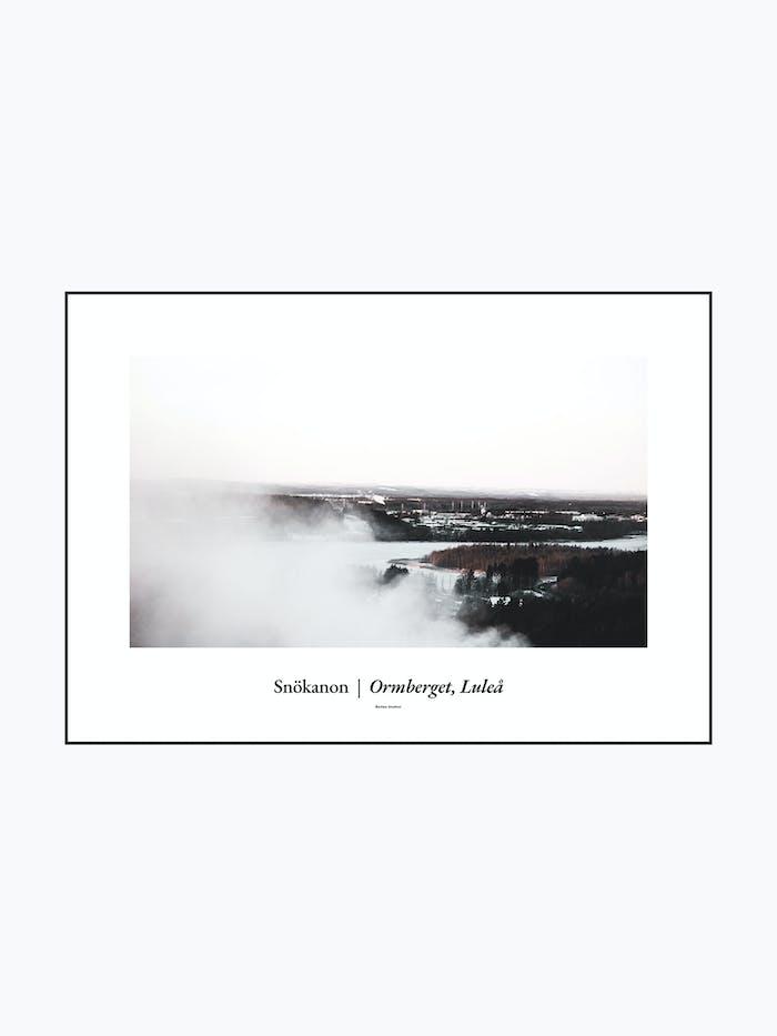 Snökanon, Ormberget Luleå - Burban Studios poster / tavla