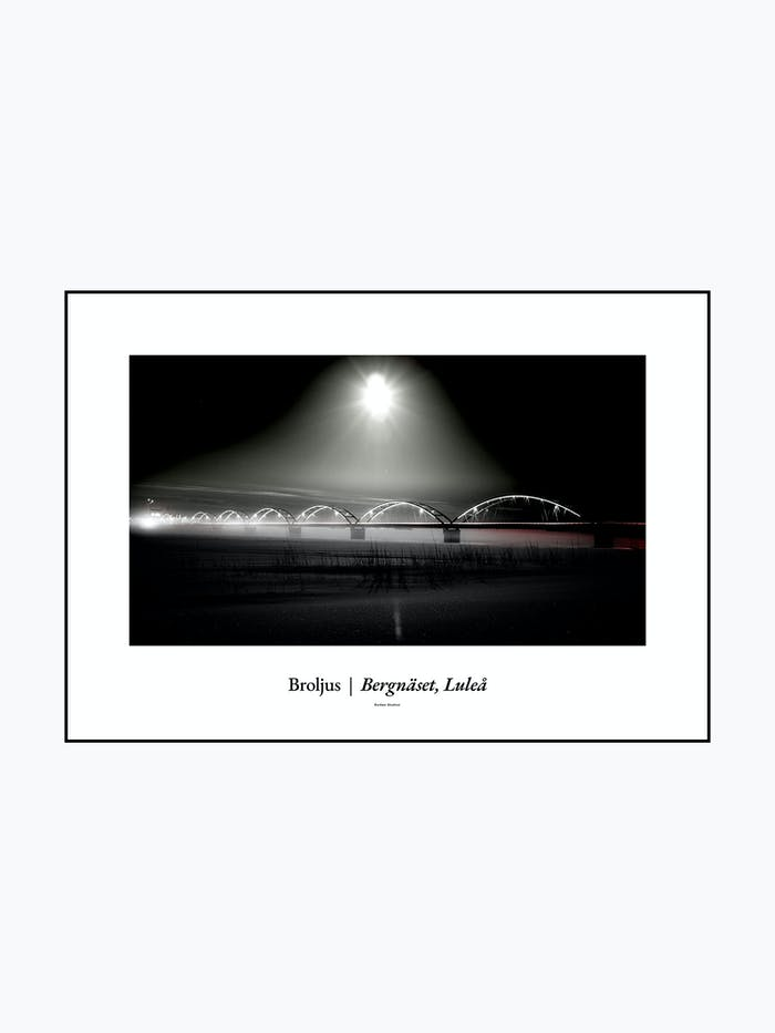 Bergnäsbron Tavla / poster Luleå - Burban Studios