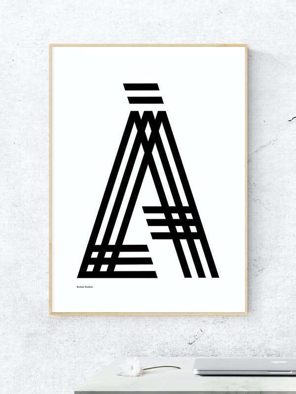 LÅ Poster Luleå Tavla - Burban Studios