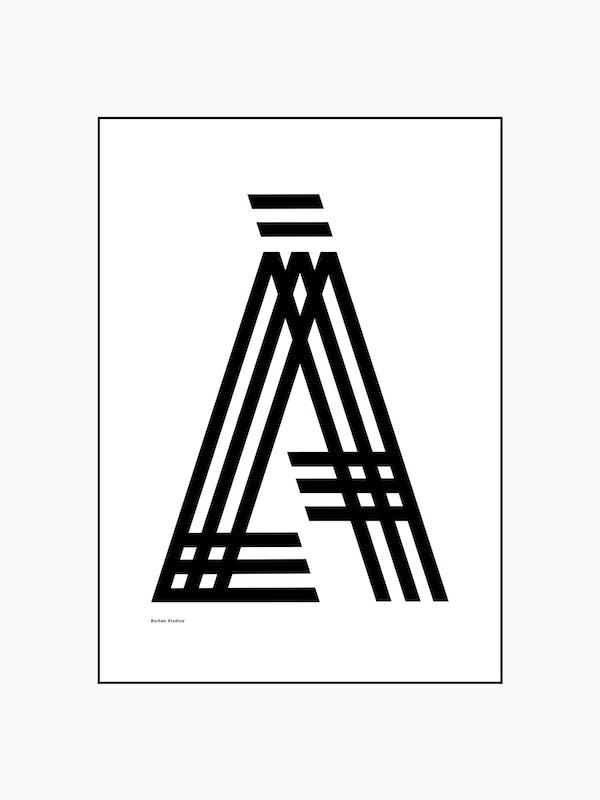 LÅ Poster / Luleå Tavla Tre Streck - Burban Studios